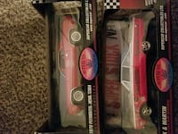 two black and red die-cast cars Rogers, 72756