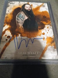 "WWE TOPPS BRAY WYATT ""THE FIEND"" AUTOGRAPH CARD"