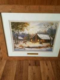 brown wooden framed painting of house Fort Wayne, 46819