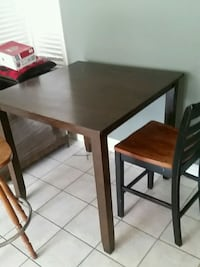 rectangular brown wooden table with two chairs Simi Valley, 93065