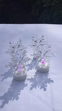 clear glass snowflakes