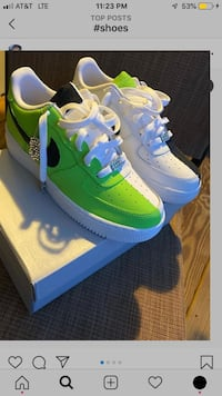Customized Air force 1's