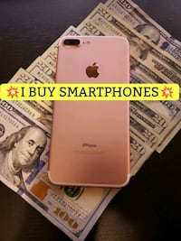 gold iPhone 7 Plus with text overlay St. Peters, 63376