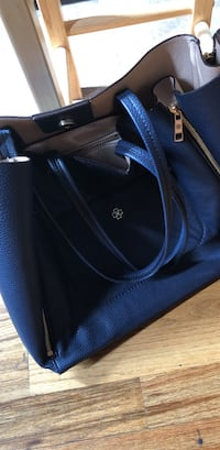 Navy blue Ann Taylor leather tote bag New York, 10014