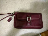 red and brown leather wristlet Toronto, M4H 1C7