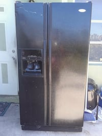 black side-by-side refrigerator with dispenser Riviera Beach
