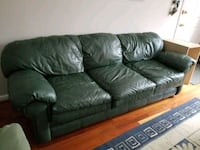 black leather 3-seat sofa Arlington, 22209