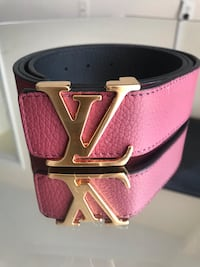 pink leather Louis Vuitton belt Germantown, 20876
