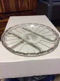 JUST REDUCED MORE round plate with 4  divided server  Rockville