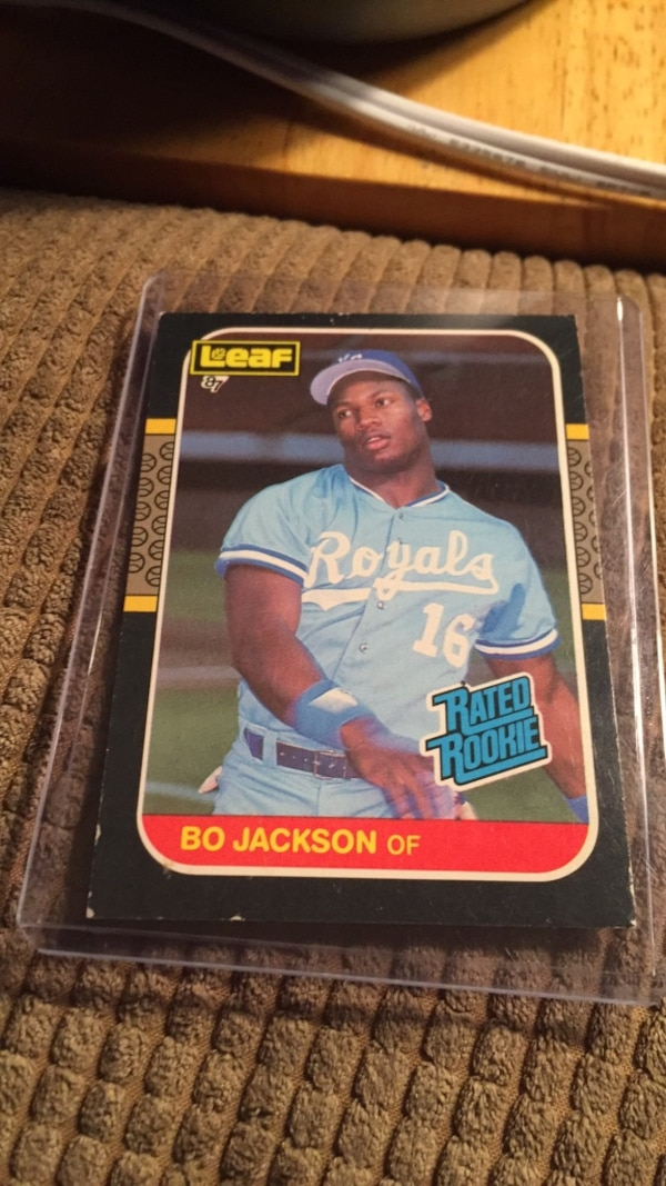 Used Bo Jackson Rookie Card Leaf 87 35 For Sale In Portage