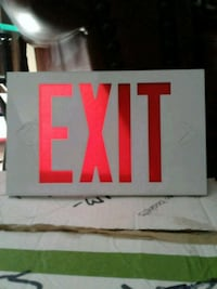 Metal EXIT signs BRAND NEW Edmonton, T6E 4S6