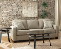 Luxury Plush Sofa Couch with Script Pillows Los Angeles, 91356