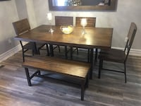 Beautiful modern wood dining room set