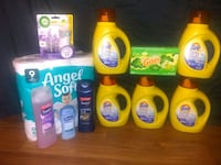 assorted-brand household cleaning product lot 609 mi