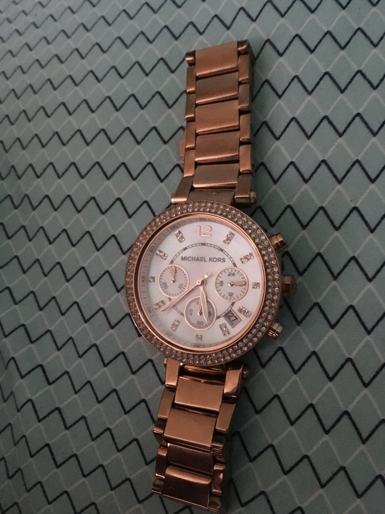 michael kors rose gold pearl face watch - Twin Bed With Mattress Included