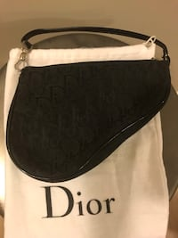 Vintage Dior mini saddle bag in black logo Toronto, M4P 1R2