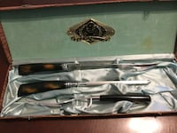 Glo hill stainless connoisseurs choice 3 pc carving cutlery set bakelite handles