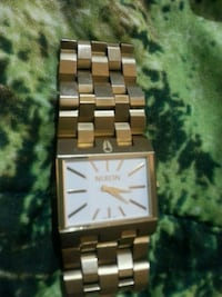 square silver-colored analog watch with link bracelet Regina, S4R 3W8