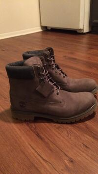 pair of brown Timberland nubuck work boots Decatur, 35601