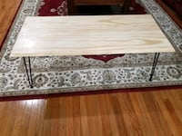 Coffee table brand new, high quality finished pine wood with metal leg Vernon Hills, 60061