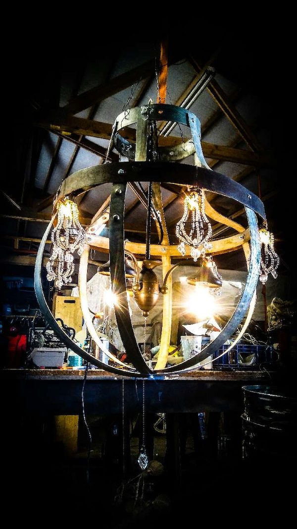 Used Wine Barrel Ring Chandelier For Sale In Benton City Letgo