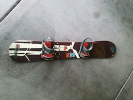Snowboard and snowboard boots 11