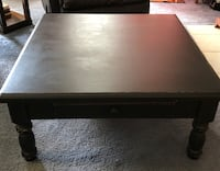 black wooden single-drawer coffee table Madison, 35758