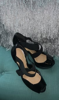 Jessica Simpson black patent leather stilettos 6 inch heel Size 9 1/2 Elkridge, 21075