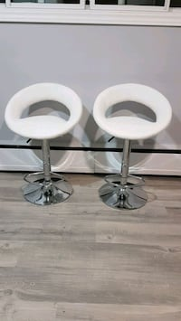 2 white barstools (brand new)
