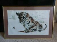 TIGER WALL HANGING GOLD FRAME 224 mi