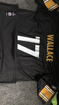 Black and white wallace 17 nfl jersey shirt
