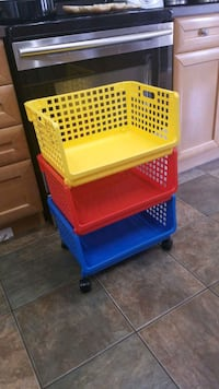 yellow and blue plastic toy organizer Calgary, T2Z 4L5