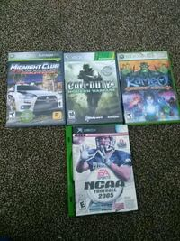 five Xbox 360 games for 30$. Fresno, 93726
