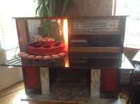 Retro fireplace / stereo / bar