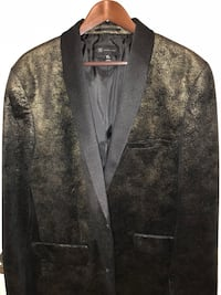 Gold flecked crushed velvet dinner jacket/ blazer size XL slim Alexandria, 22315