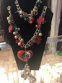 Silver and pink beaded necklace Charlotte, 28269