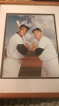 Framed 8x10 roger maris and Mickey Mantle photo print Vienna, 22180
