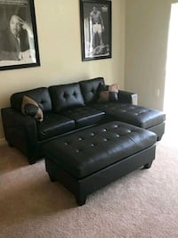 Brand New Espresso Bonded Leather Sectional Sofa  Wheaton-Glenmont, 20902
