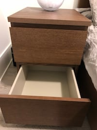 2 IKEA Malm Brown nightstands / bedside tables Toronto, M5T 2H5