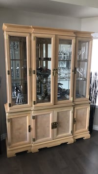Wood china cabinet Edmonton, T6R 2G8