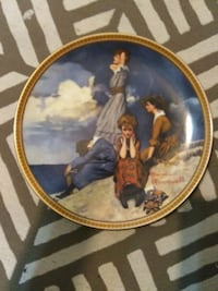 Hand painted Norman Rockwell plates Anderson, 96007