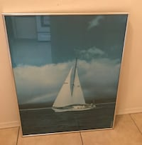 """Sail boat on the water measuring 30 1/2"""" x 24 1/2"""" Port Charlotte, 33954"""