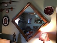 SOLID WOOD MIRROR, NOT A MARK ON IT, NICE AND LARGE, BOUGHT AT WOLF'S FURNITURE STORE FOR$400.00.   REDUCED AGAIN NOW ONLY $25.00 Smithsburg, 21783
