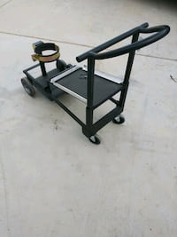 Custom built convertible MIG welding cart