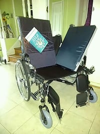 black and gray folding wheelchair Bowie, 20720