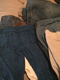 two blue and black denim jeans Palm Springs, 92262