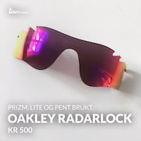 Oakley Radarlock glass 6242 km