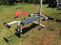Two sets of exercise equipment. Benches and weights Milton, 27305