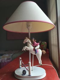 Cute equestrian horse with rider lamp Sterling, 20166