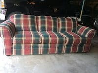 Red, green, and white plaid fabric sofa Graytown, 43432